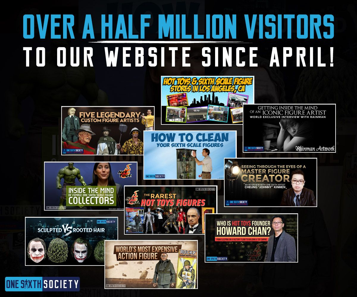 One Sixth Society has had over a Half a Million Visitors to our site since April