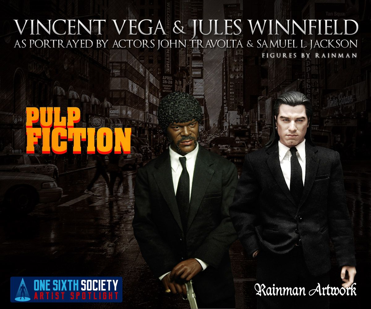 Rainman Pulp Fiction Figures are very rare and sold out