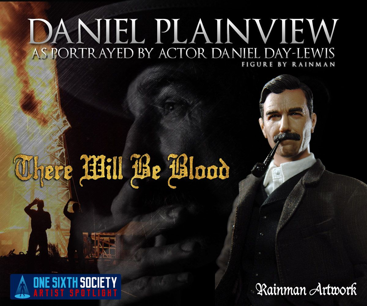 The Rainman There Will Be Blood Figure is a rare find for sixth scale custom collectors
