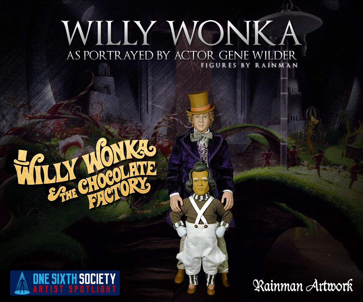 Check out these awesome Rainman Willy Wonka Figures