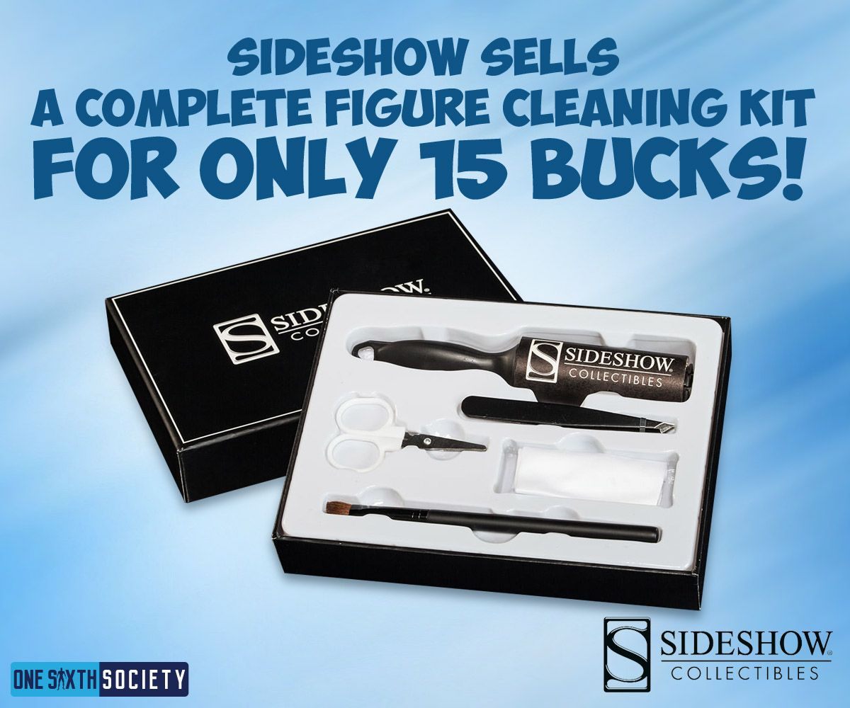 Sideshow Collectibles Figure Cleaning Kit is Perfect For Action Figures