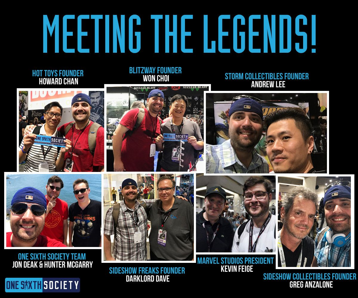 One Sixth Society has Been Lucky to Meet Howard Chan, Greg Anzalone, Darklord Dave and many more Sixth Scale Figure Legends!