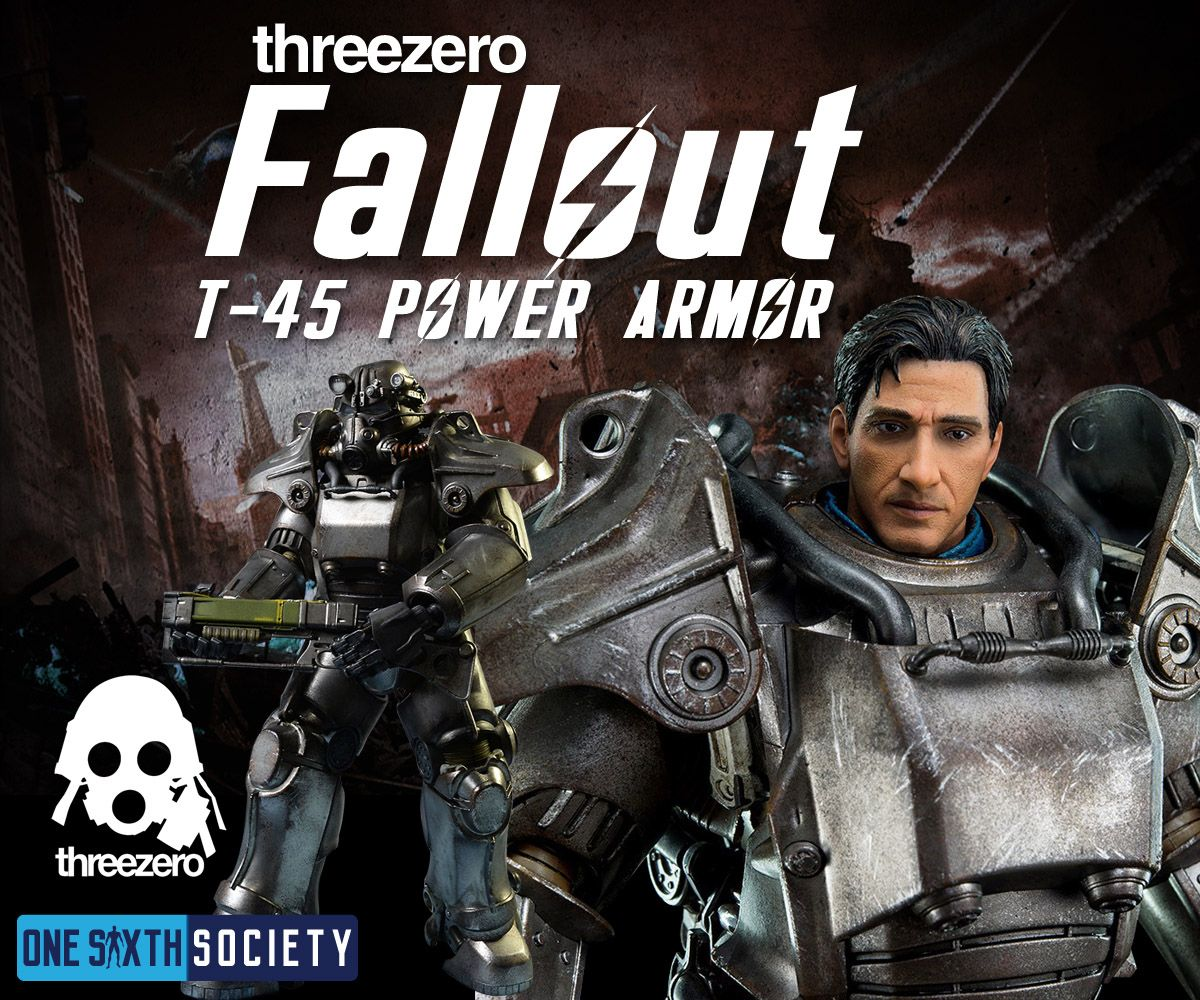 The Threezero Fallout T-45 Power Armor Video Game Action Figure is One of the Best Sixth Scale Gaming figures ever created