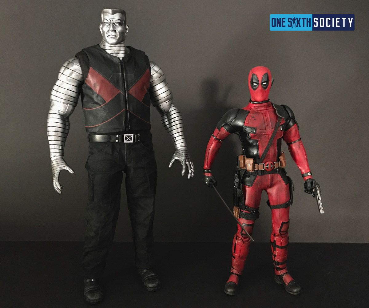 The Toys Era Colossus Towers Over The Hot Toys DeadPool Figure