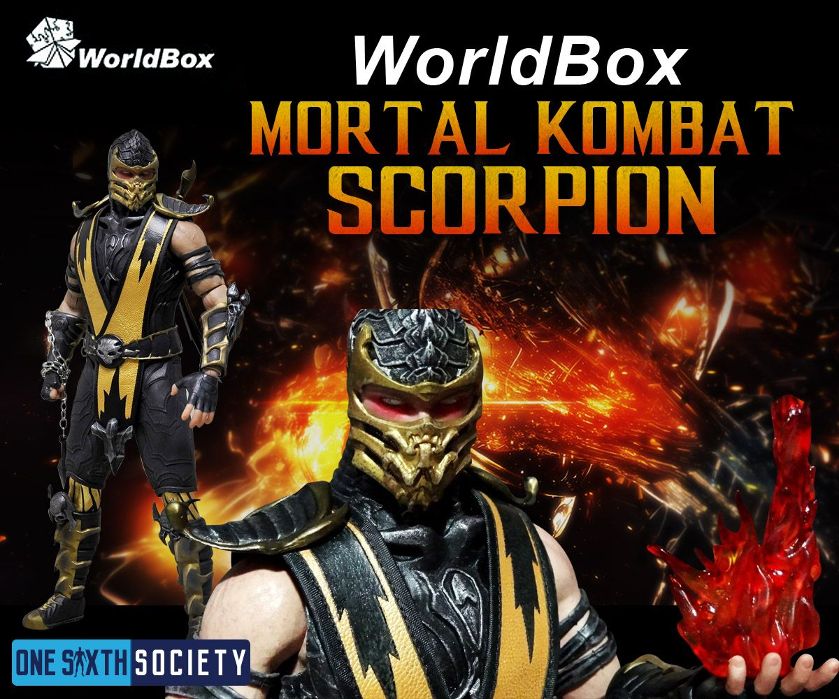 The Worldbox Mortal Kombat Scorpion Video Game Action Figure is just as good as Storm Collectibles version