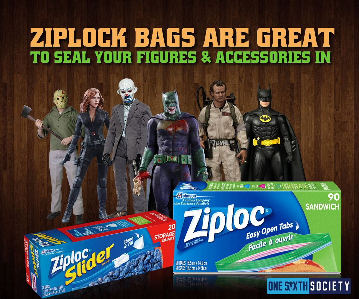 Put your Action Figures Insides Zip Lock Bags during Floods