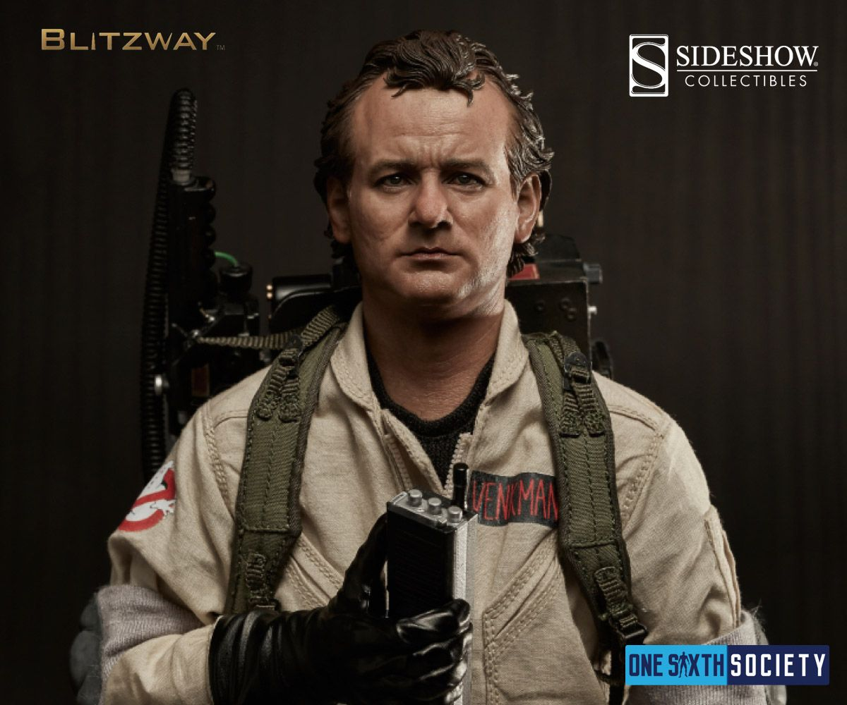 Sideshow collectibles now carrys the Blitzway Ghostbusters Dr Peter Venkman Figure
