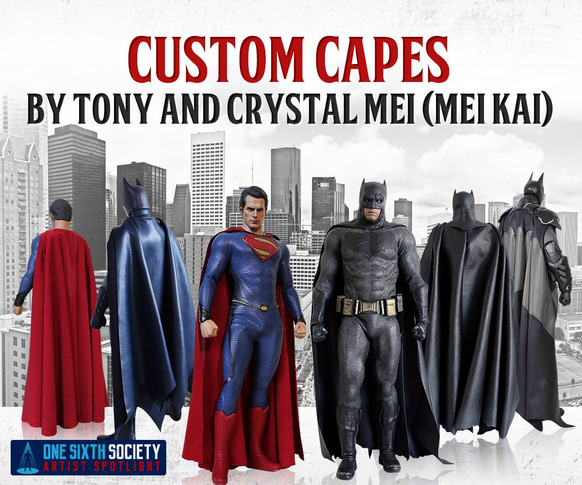 Tony Mei Creates The Best 1/6 Scale Custom Capes & Best 1/6 Scale Custom Cape Makers | One Sixth Society