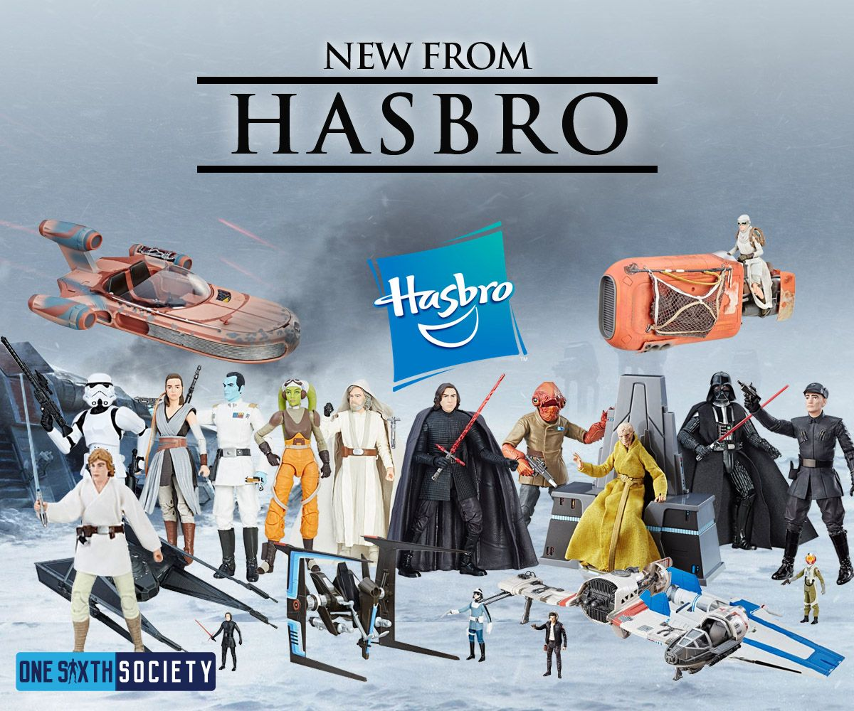 Hasbro has Unveiled Their New Line of Last Jedi Figures
