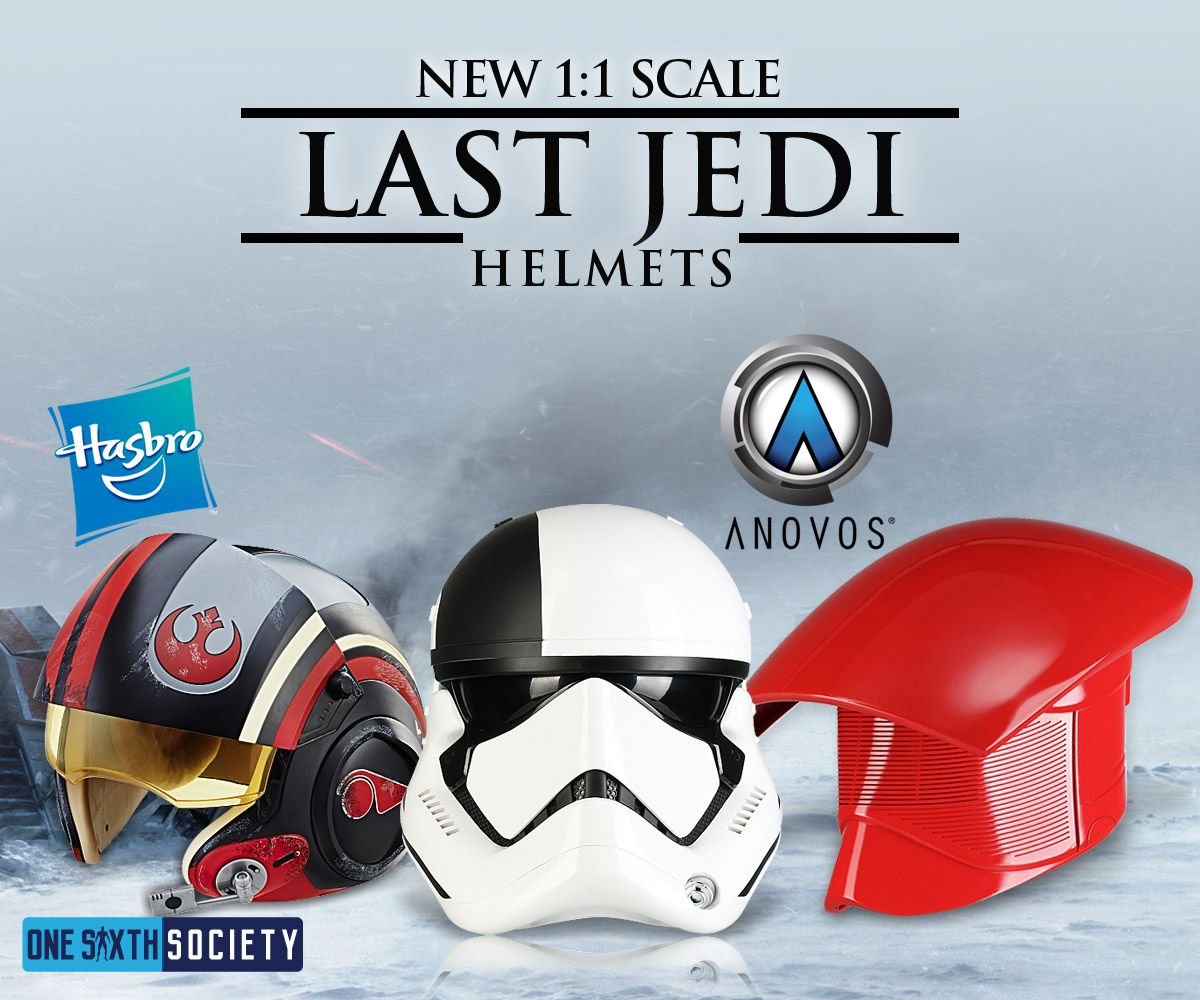 See The New Hasbro The Last Jedi Helmet & Anovos Helmet