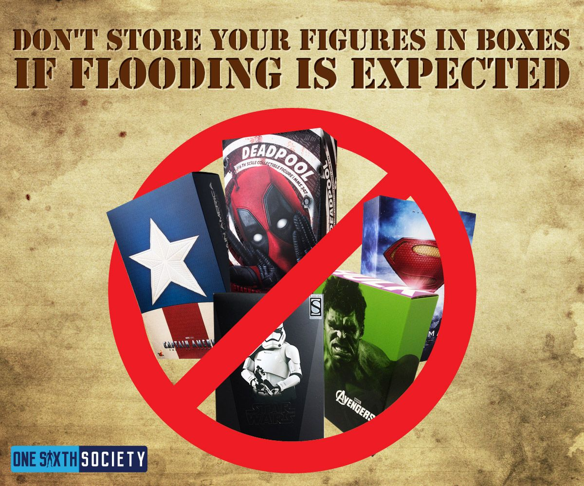 Don't Put Your Hot Toys Figures Into Boxes during Hurricanes