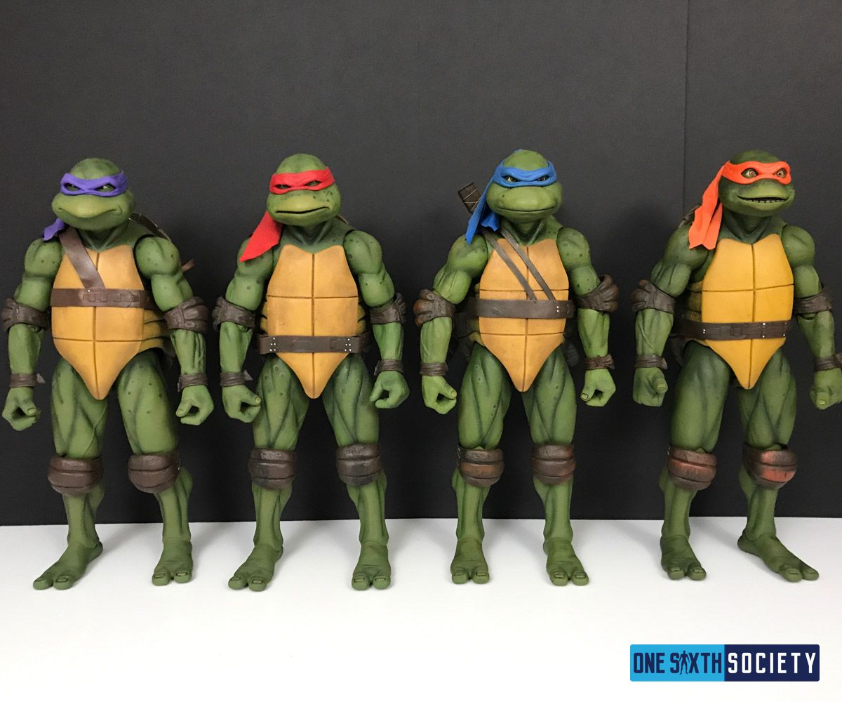 Here is the Entire Set of the NECA's 1/4 Scale Movie Turtles