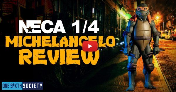 1/4 Scale 1990 TMNT NECA Michelangelo Review