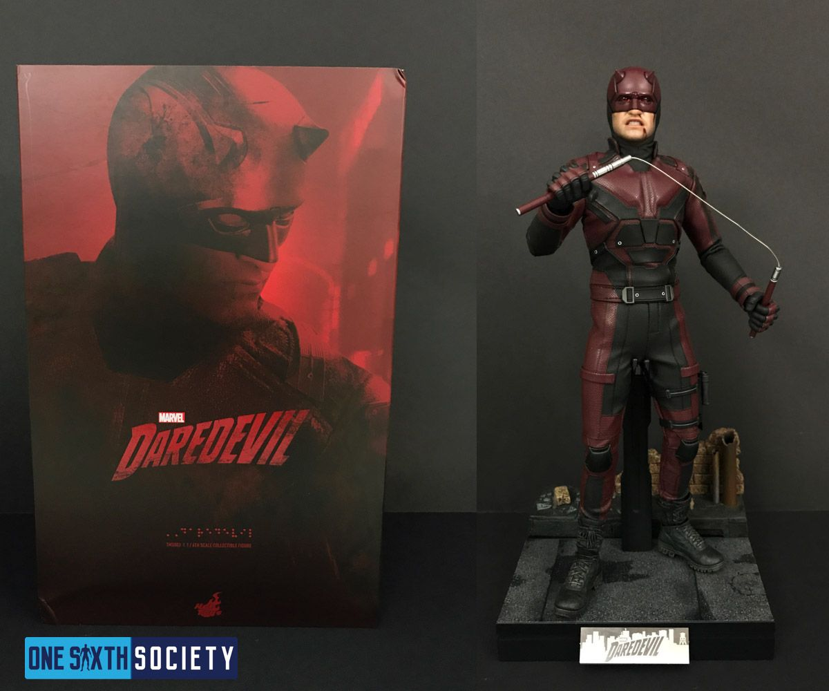The Hot Toys Daredevil Box Art has actual brail on the box