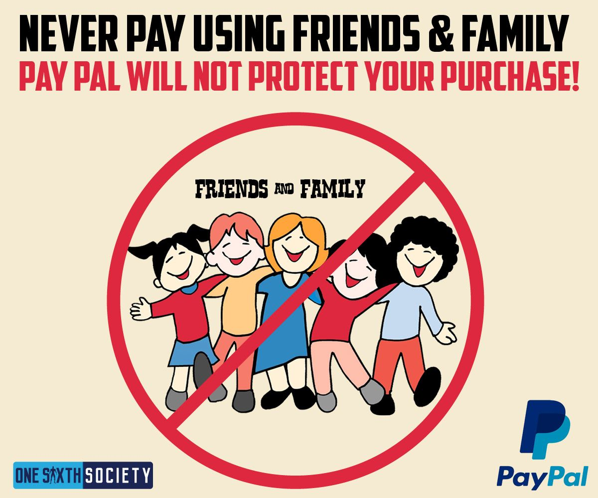 Pay Pal doesn't not cover your purchase when using friends and family