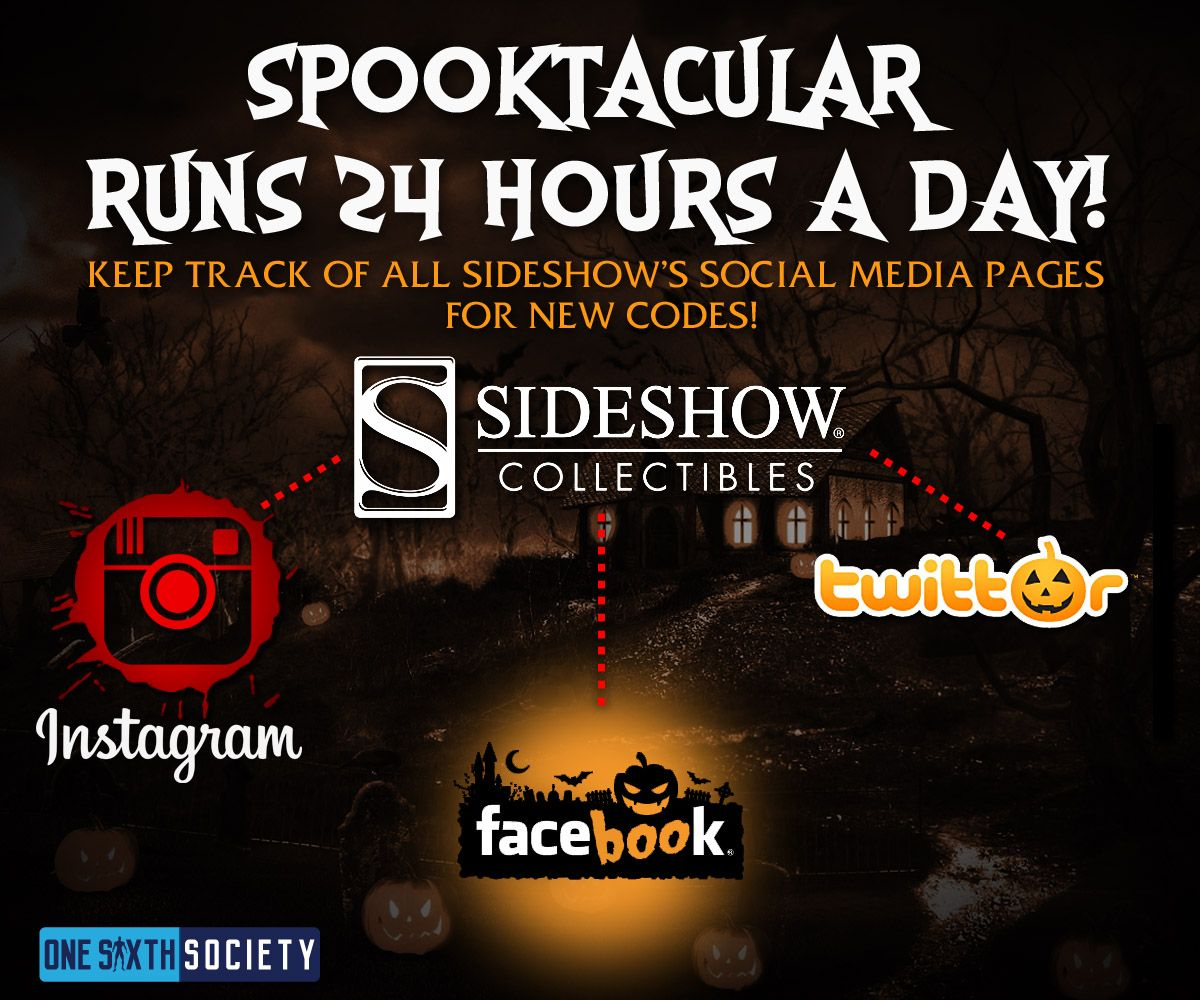 Make Sure You Keep Track of Social Media Accounts to Collect Your Sideshow Spooktacular Reward Points