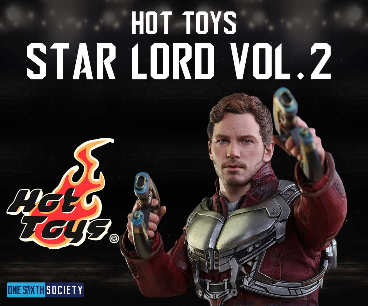 Hot Toys Star Lord Vol 2 come with an insane amount of accessories