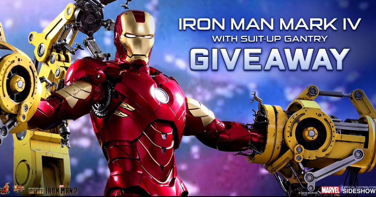Giveaway – Hot Toys Iron Man Mark IV with Suit-Up Gantry