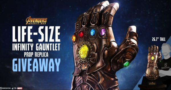 Hot Toys Life Size Infinity Gauntlet Giveaway!