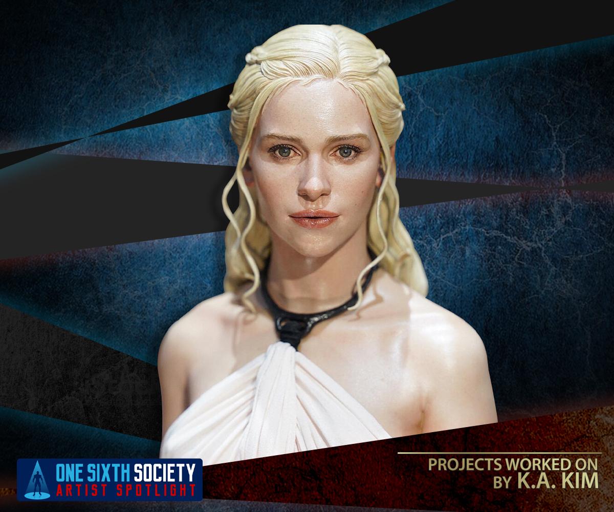 Game of Thrones Daenerys Targaryen, Mother of Dragons by K.A. KIM