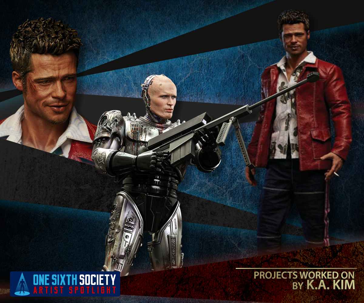 K.A Kims Projects include Blitzways Tyler Durden and Hot Toys RoboCop